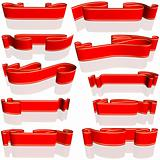 Red Banners Set