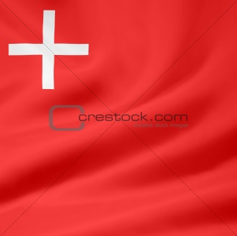 Flag of the canton of Schwyz in Switzerland