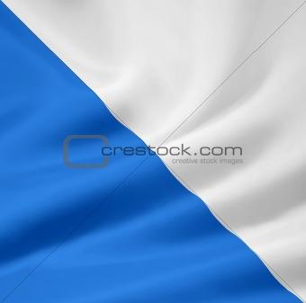 Flag of the canton of Zürich in Switzerland