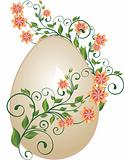 Floral easter egg