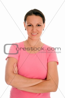 beautiful young woman stand
