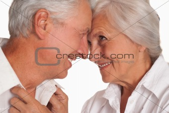 nice elderly couple together