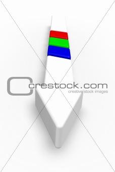 arrow with rgb stripes