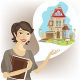 Woman estate agent