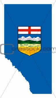 Alberta map flag