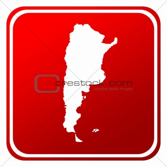 Argentina red map button