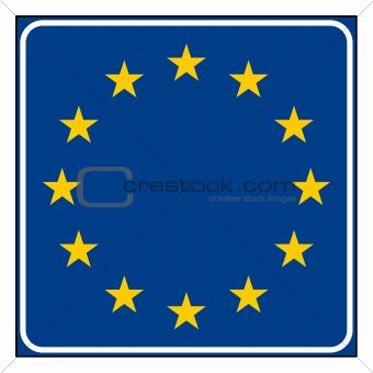 Blank European sign