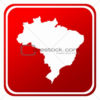 Brazil red map button
