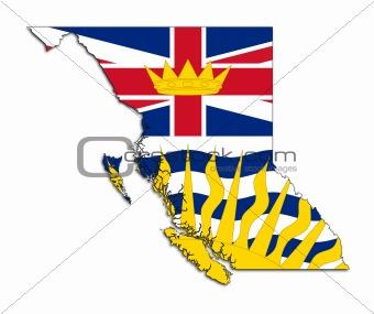 British Columbia map flag
