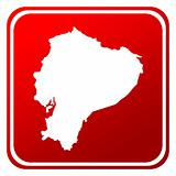 Ecuador red map button