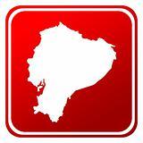 Ecuador red map button
