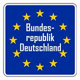 ;Germany European road sign