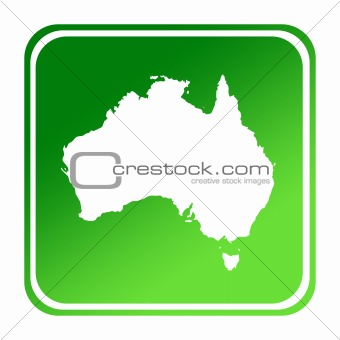Australia green map button