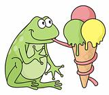Frog with icecream