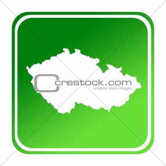 Czerch Republic green map button