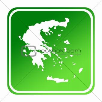 Greece green map button