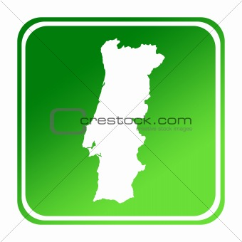 Portugal green map button