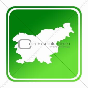 Slovenia green map button