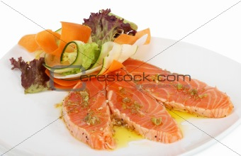 Grilled salmon fish