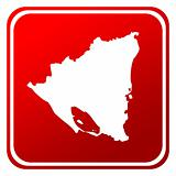Nicaragua red map button