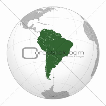 Image 3684285: South American continent on globe on map of antarctica globe, map of pacific ocean globe, map of world globe,