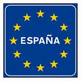 Spain or Spanish road sign