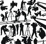 cameramen and camcorders
