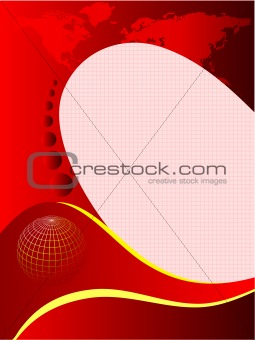 A red and white abstract business card