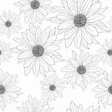 Seamless wallpaper with beautiful flowers