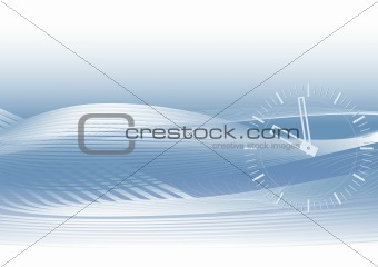 Abstract blue vector background - time