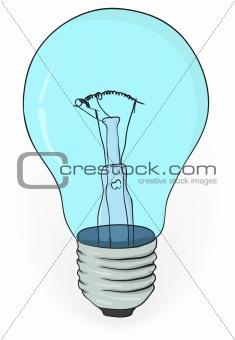 Old electric bulb - vector illustration eps8