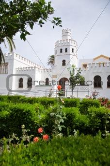 arab building in garden