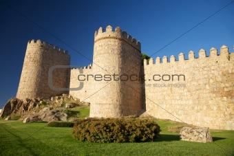 Avila city wall detail