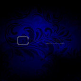 background with seamless floral pattern in blue