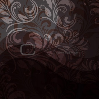 background with seamless floral pattern in grey, beige