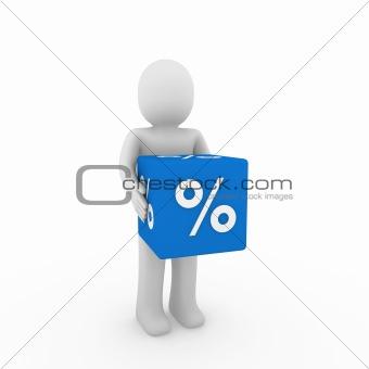 3d human sale cube
