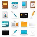 Vector set of office web elements