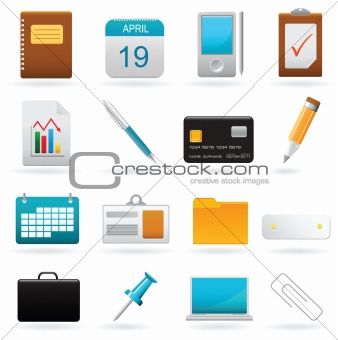 Vector set of office web elements