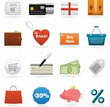 Set of shopping web elements