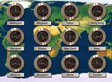 World Cities Time Zone Clocks