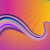 purple waves vector