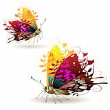 Stylized butterflies