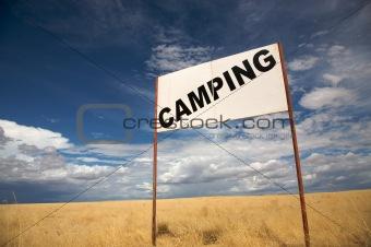 Camping signboard