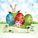 Easter card with bunny