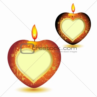 Candles with heart shape