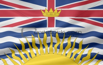 Flag of the of British Columbia, Canada