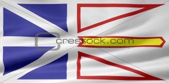 Flag of the of Newfoundland and Labrador, Canada