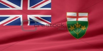 Flag of the Ontario, Canada