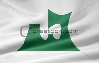 Flag of the japanese province of Aomori
