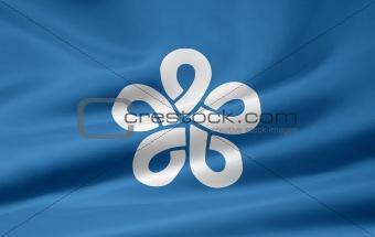 Flag of the japanese province of Fukuoka